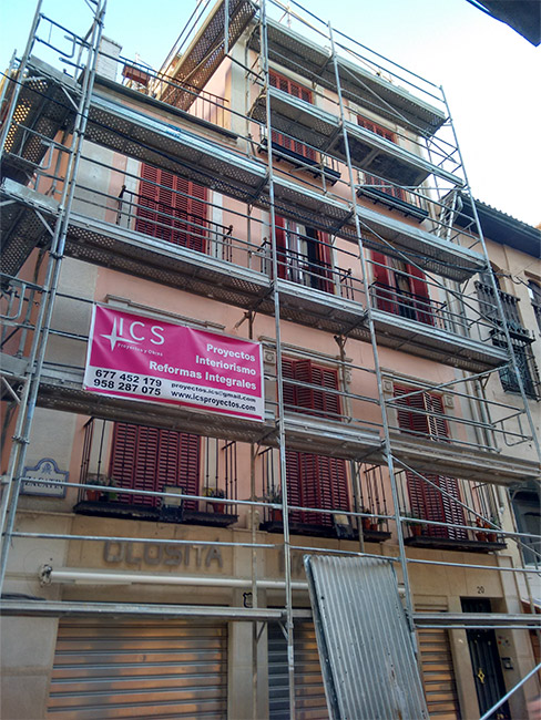 Reparación de fachadas en Granada - ICS Proyectos